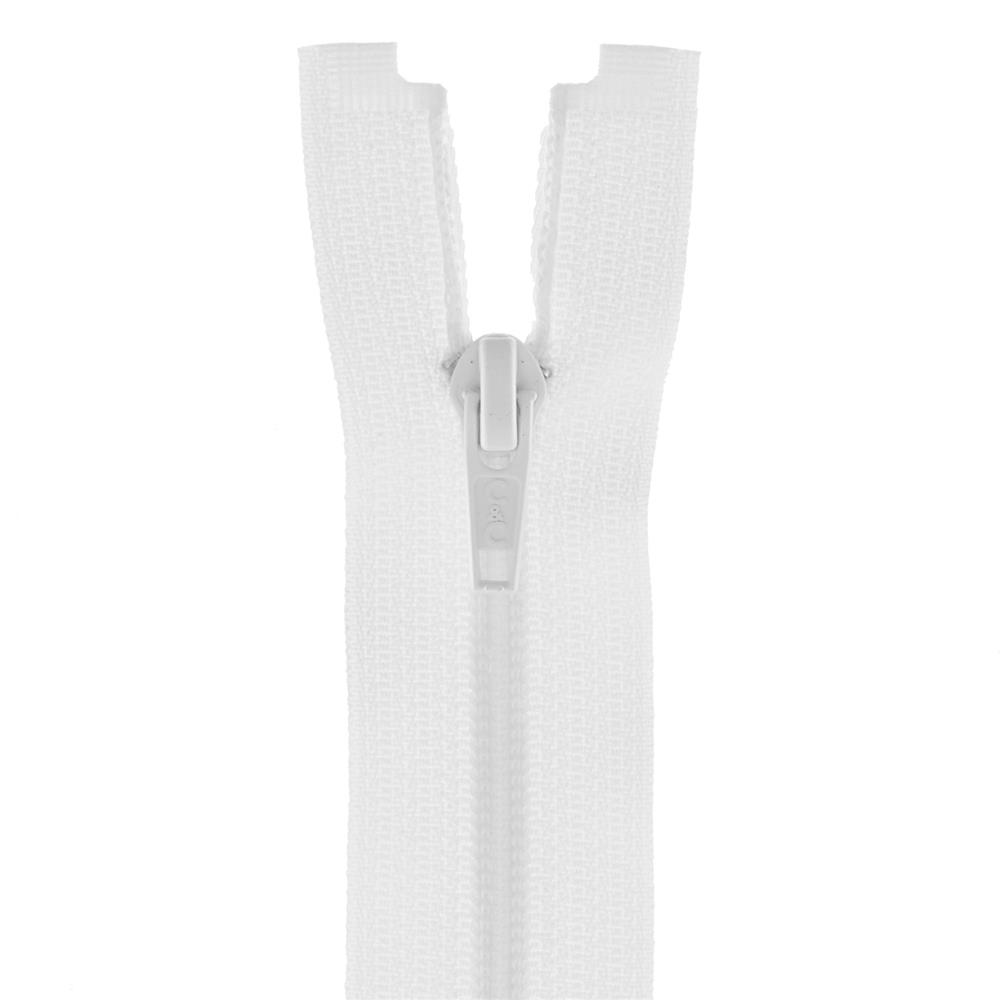 "Coats & Clark Coil Separating Zipper 14"" White"