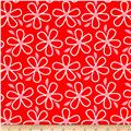 Quilt Camp Large Floral Red