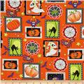 Frightful & Delightful Glow In The Dark Halloween Squares Orange