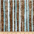 Contempo Twilight Brush Strokes Brown/Turquoise