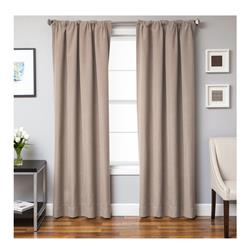 Sunbrella 96'' Solid Rod Pocket Outdoor Panel Antique Beige