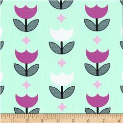 Art Gallery Geometric Bliss Vertex Tulips Mint
