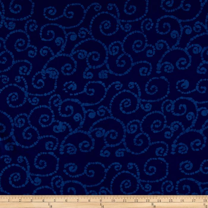 Indian Batik East Side Scroll Navy