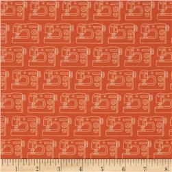 Sew Simple Sewing Machines Orange Fabric