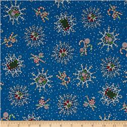 Christmas Home Sweet Home Snowflakes Navy
