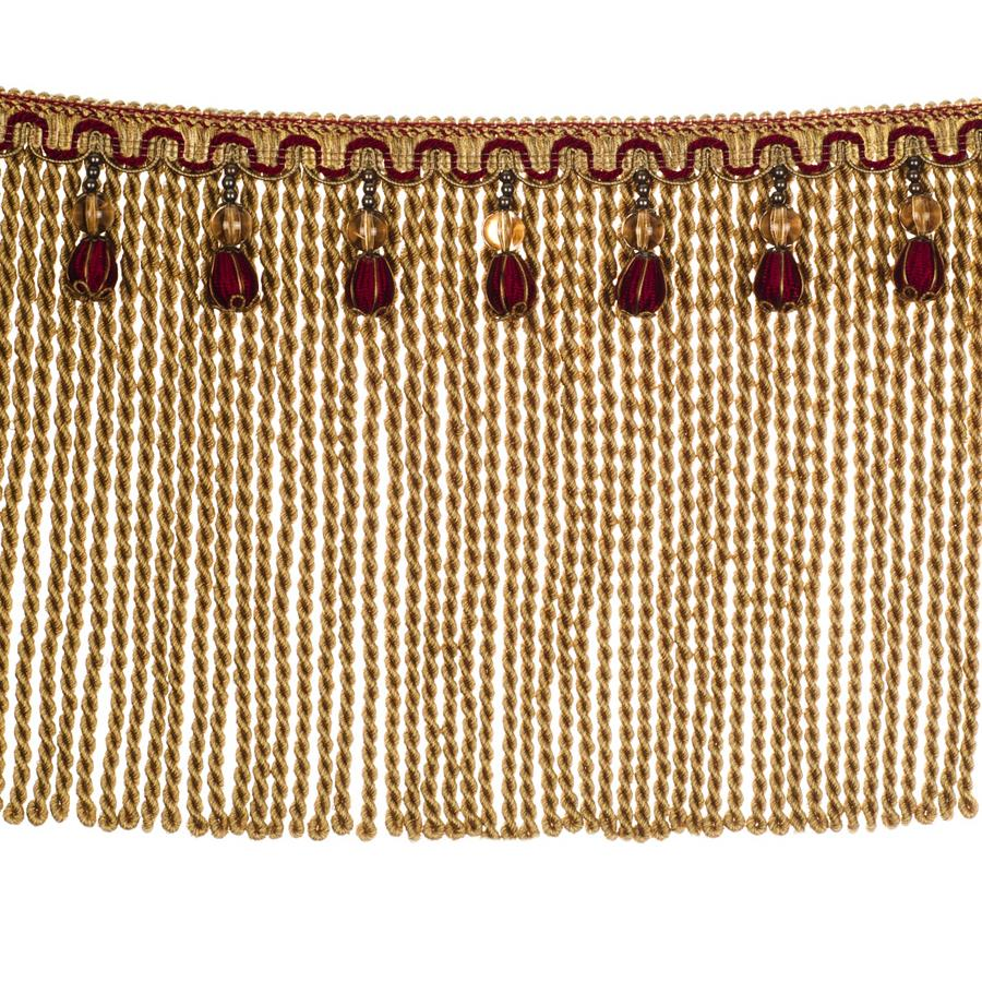 "Fabricut 9"" Mountain Resort Bullion Fringe Port"