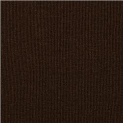T-Knit Ribbing Chocolate Brown