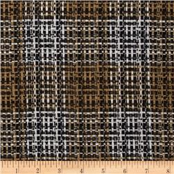 Wool Blend Coating Chunky Plaid Brown/Neutral