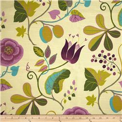 Home Accent Capri Floral Slub Fantasia Fabric