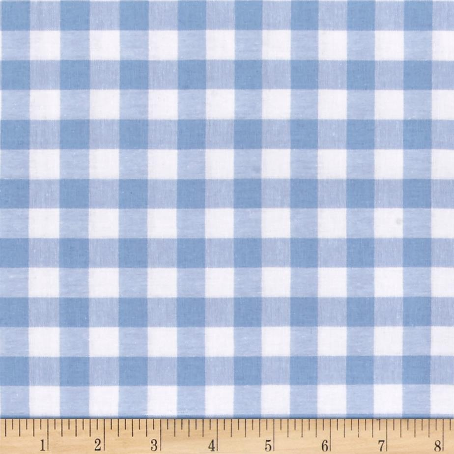 Cotton + Steel Checkers Yarn Dyed Woven 1/2'' Sky Fabric