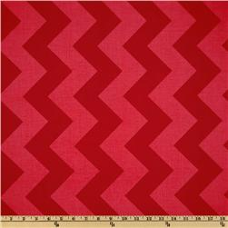 Riley Blake Chevron Large Tonal Red