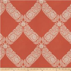 Keller Williams Floral Lattice Jacquard Terra Cotta