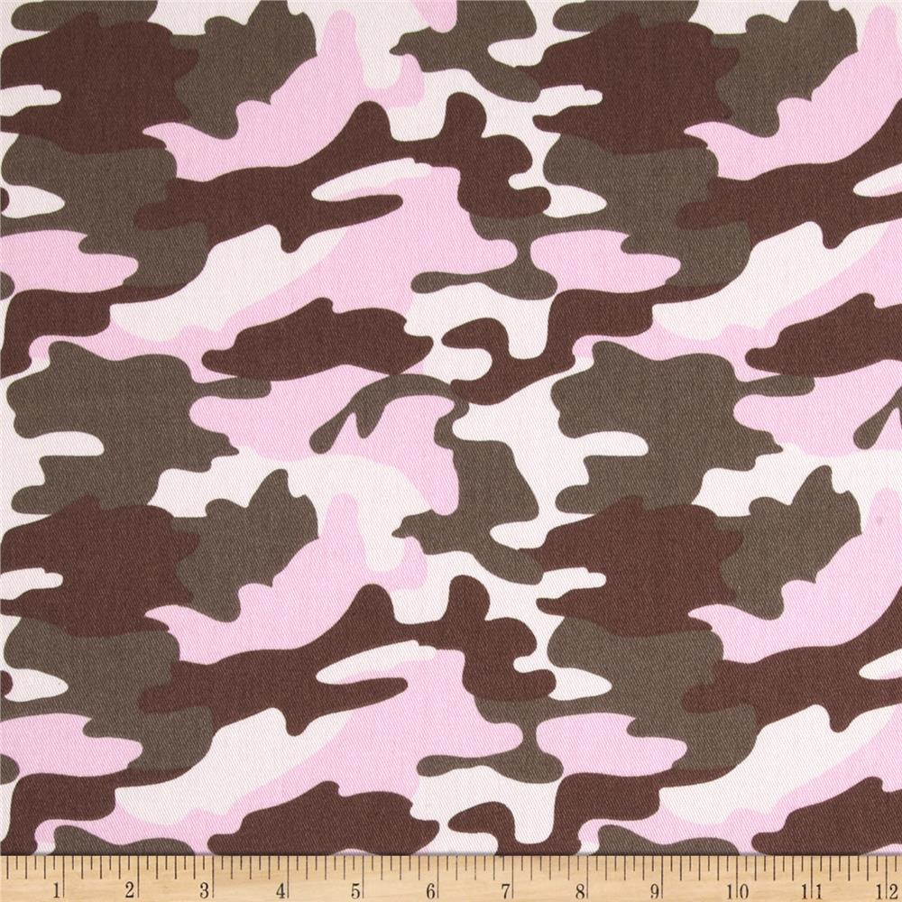 Cotton Twill Pink Camo
