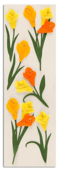 Martha Stewart Crafts Stickers Tulip Flowers Orange/Yellow