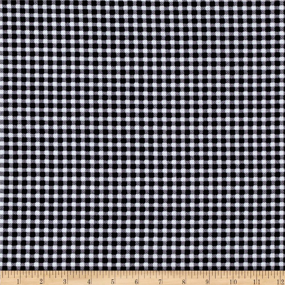 Michael Miller Tiny Gingham Black