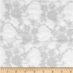 Stretch Floral Lace Silver