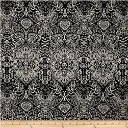 Picasso Rayon Poplin Damask Black/Taupe