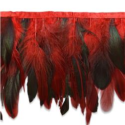 "6"" Fionna Feather Trim Red"