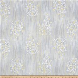 Timeless Treasures Metallic Zephyr Sprigs Stripe Cloud