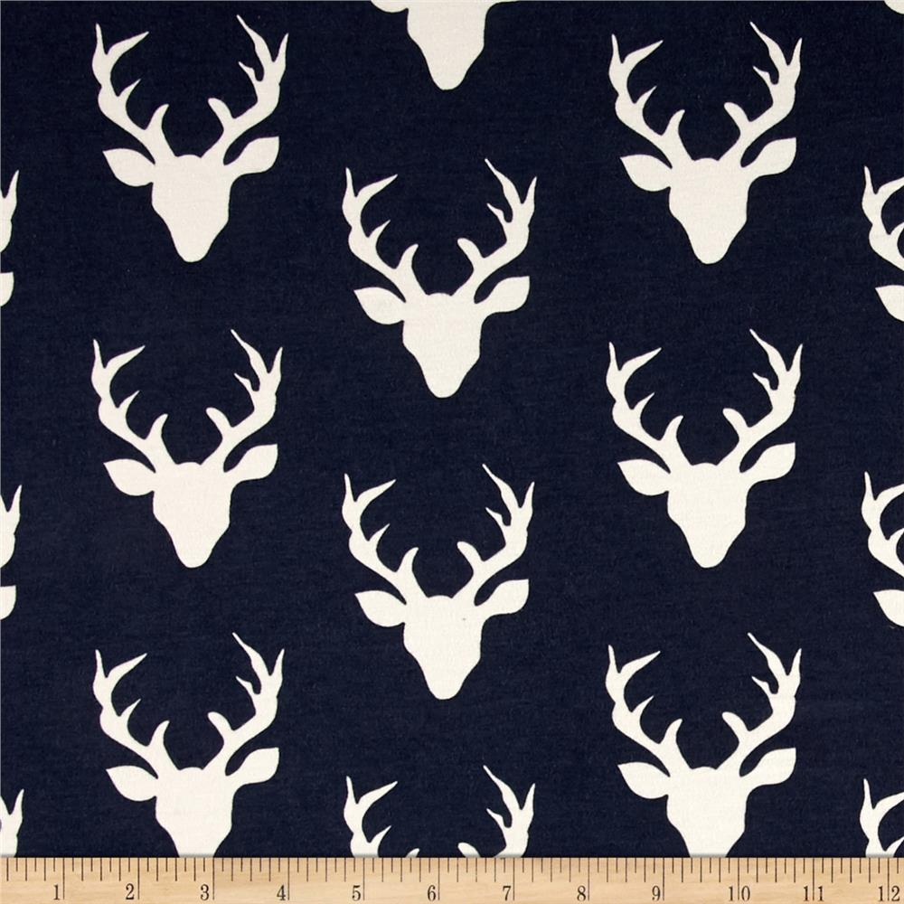 Art Gallery Jersey Knit Buck Forest Twilight