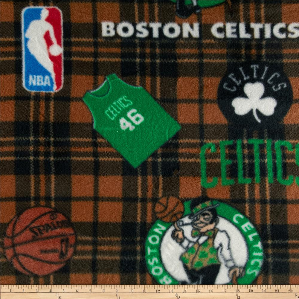 NBA Fleece Boston Celtics Green Fabric By The Yard