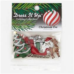 Dress It Up Embellisment Buttons  Christmas Eve