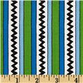 Camp Peanuts Stripe Green/Royal Blue