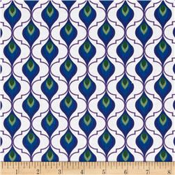 Royal Retro Teardrop Grid Blue/Green