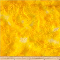 Luxury Faux Fur Candy Shag Yellow