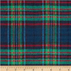 6 oz. Flannel Large Plaid Navy/Green/Red