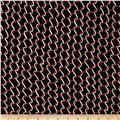 Crepe De Chine Ribbon Red/Black