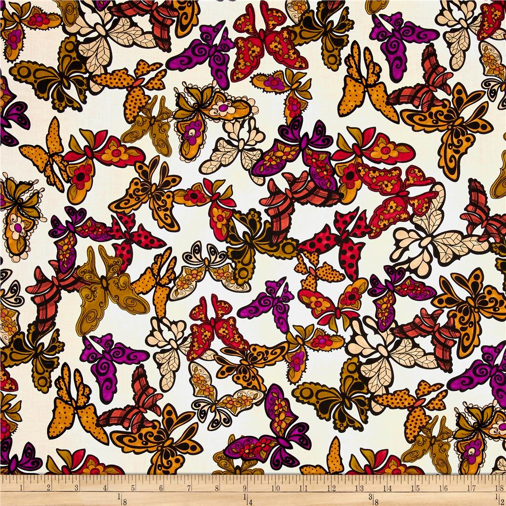 Loralie Designs Gypsy Chique Butterflies Natural