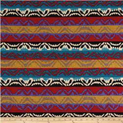 Stretch ITY Knit Navajo Stripes Multi