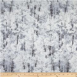 Kanvas Frost Winter Trees Silver