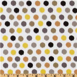 Michael Miller Citron Gray Spa Dot Citron