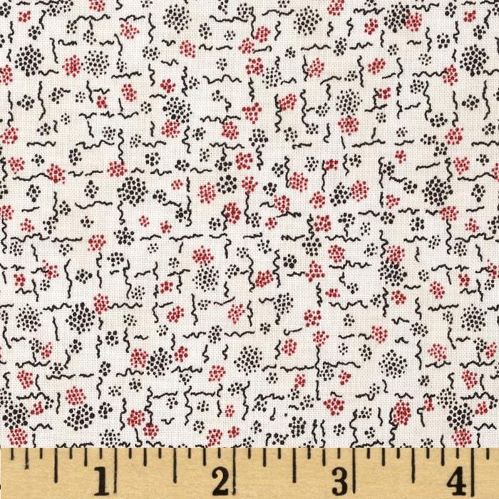 Penny Rose 19th Century Shirtings Squiggles Red