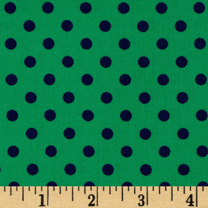 Michael Miller Dumb Dot Turf/Green Fabric