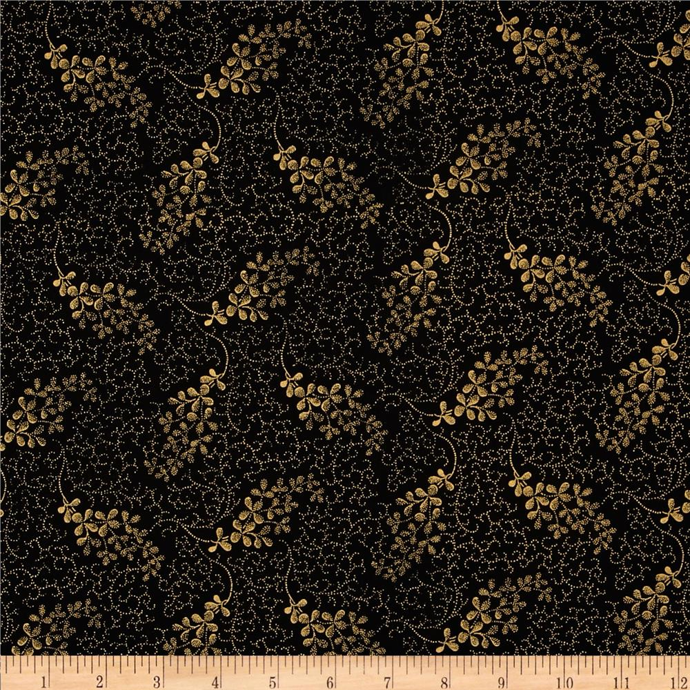 Madeline Dotty Vine Metallic Black