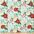 Timeless Treasures Crafty Gemini Dominicana Large Floral White