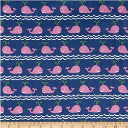 True Blue Rowing Pink Fabric