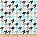 Riley Blake Medium Houndstooth Blue/Grey