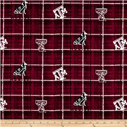 Collegiate Cotton Broadcloth Texas A & M University Plaid Maroon