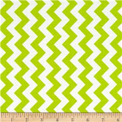 Riley Blake Small Chevron Lime Fabric