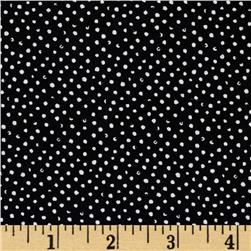 Mini Confetti Dot Black Fabric