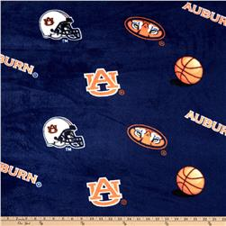 Collegiate Fleece Auburn University Tossed Navy/Orange Fabric