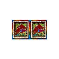 Laurel Burch Enchantment Metallic Panel Blessings Multi Bright