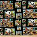 Zoo Selfies Patchwork Black