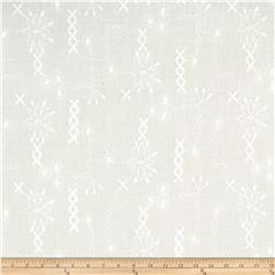 Cotton Eyelet Zig Zag Floral White