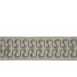 "Fabricut 2.75"" Waves Trim Platinum"