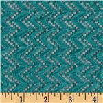 Copacabana Stretch Crochet Chevron Lace Teal